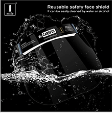 1Mile Protective Face Shield - Be Careful (200 Micron)