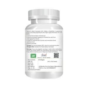 Natures Velvet Lifecare Coenzyme Q-10 100mg Capsule