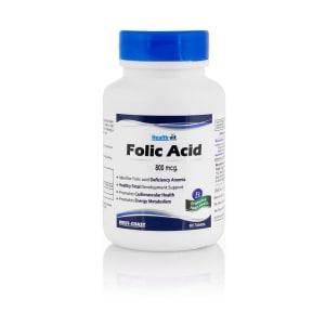 HealthVit Folic Acid 800mcg Tablet