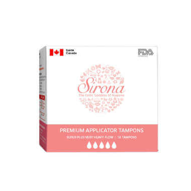 Sirona Premium Applicator Super Plus Heavy Flow Tampons