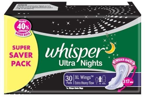 Whisper Ultra Nights Xl Wings Pads
