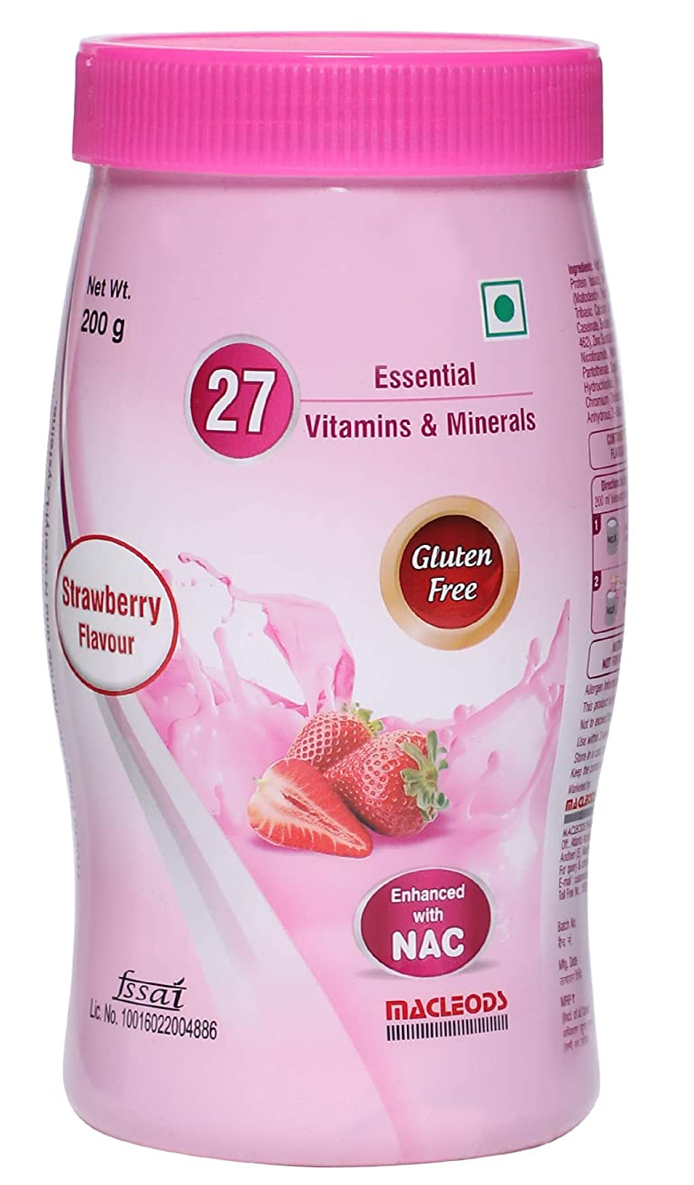 MACPROT RESP POWDER STRAWBERRY