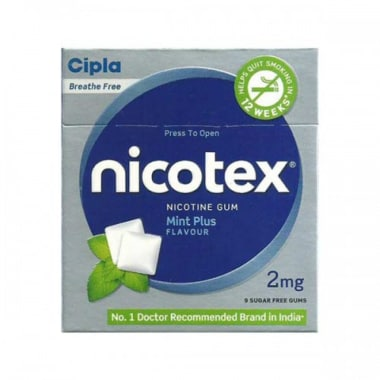 Nicotex Plus 2mg Chewing Gums Mint