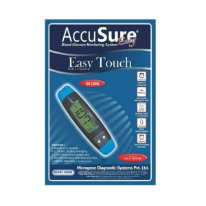 Dr. Gene Accusure Easy Touch Blood Glucose Monitoring System With 25 Strips