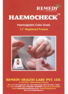 Haemocheck Haemoglobin Color Scale Starter Kit- 50 Test Strip