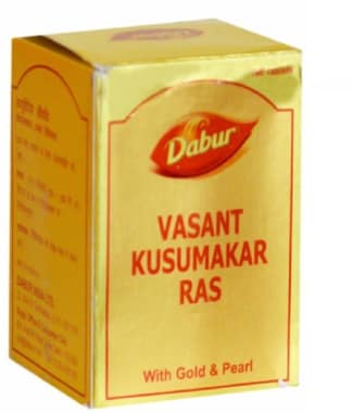 Dabur Vasant Kusumakar Ras With Gold And Pearl Tablet