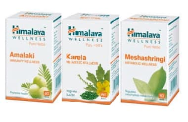 Himalaya Wellness Diabetes Care Combo Pack (amalaki 60 Tablet, Karela 60 Tablet, Meshashringi 60 Tab