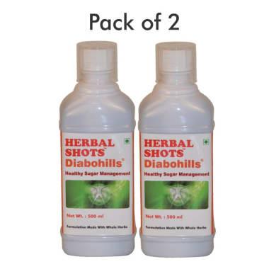 Herbal Shots Of Diabohills Pack Of 2