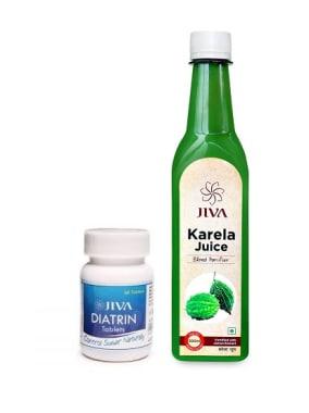 Jiva Diatrin Tablet-60 With Karela Juice-500ml