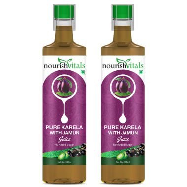 Nourishvitals Pure Karela With Jamun Juice Pack Of 2