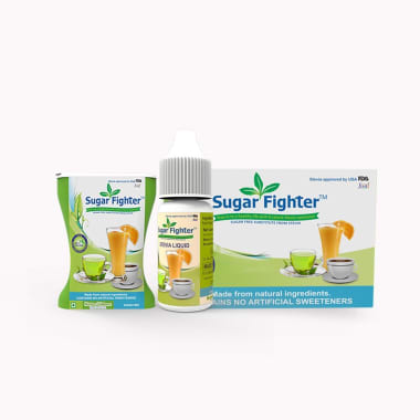 Sugar Fighter Combo Pack Of Stevia (20 Sachets) Stevia (100tablets) And Stevia (10ml Liquid)