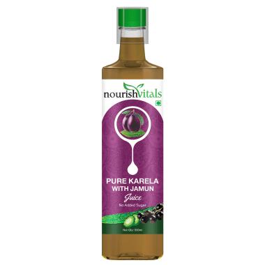Nourishvitals Pure Karela With Jamun Juice