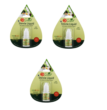 So Sweet Stevia Liquid Pack Of 3