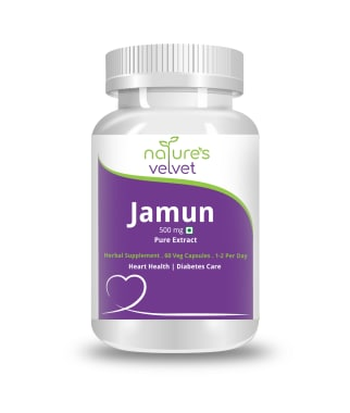 Nature's Velvet Jamun Pure Extract 500mg Capsule