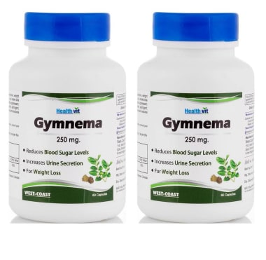 Healthvit Gymnema 250mg Capsule Pack Of 2