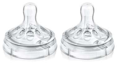 Philips Avent Natural Teat One Slot Variable Flow - 3months+