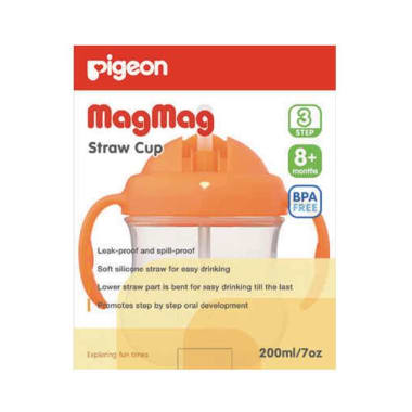 Pigeon Mag Mag Straw Cup Orange