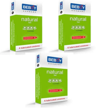 Beboy Natural Feel Flavoured Condom Paan Pack Of 3