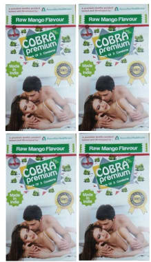 Cobra Premium Condom Mango Pack Of 4
