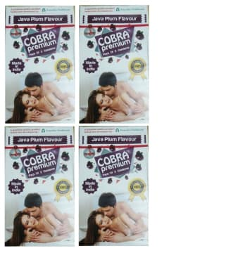 Cobra Premium Condom Java Plum Pack Of 4