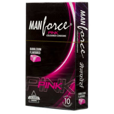 Manforce Pink Condom Bubblegum