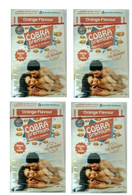 Cobra Premium Condom Orange Pack Of 4