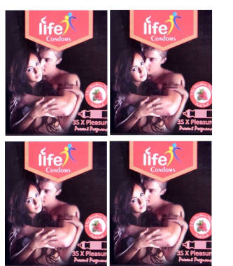 Life Condom Strawberry Pack Of 4