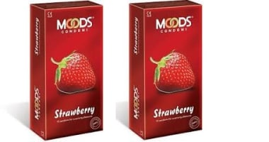 Moods Condom Strawberry Pack Of 2