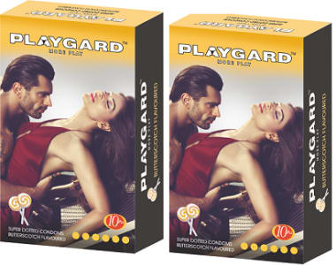 Playgard More Play Super Dotted Condom Butterscotch Pack Of 2
