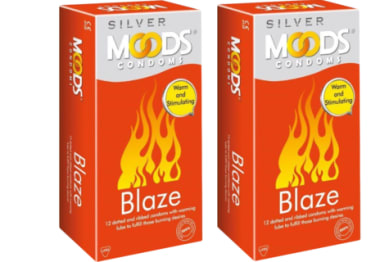 Moods Silver Blaze Condom Pack Of 2