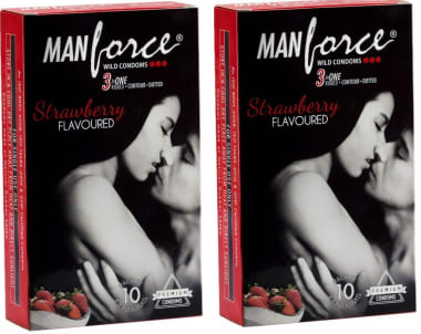 Manforce Wild Condom Strawberry Pack Of 2