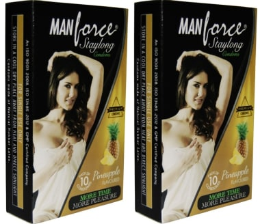 Manforce Staylong Condom Pineapple Pack Of 2