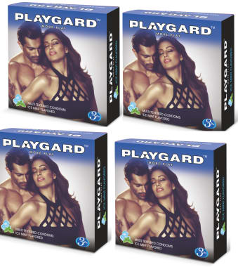 Playgard More Play Condom Ice Mint Pack Of 4