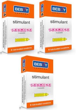 Beboy Stimulant Flavoured Condom Jasmine Pack Of 3