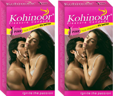 Kohinoor Pink Condom Pack Of 2
