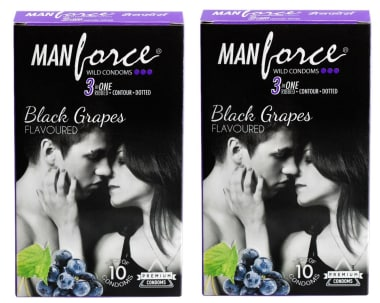 Manforce Wild Condom Black Grapes Pack Of 2