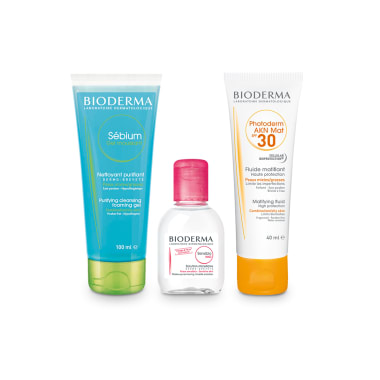 Bioderma Sun Protection Combo For Acne Prone Skin