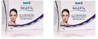 Healthvit Bath & Body Glutathione Soap Pack Of 2