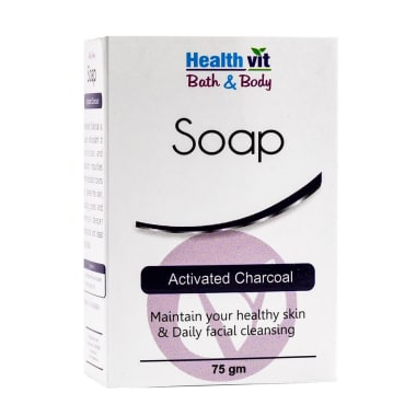 Healthvit Bath & Body Activated Charcoal Soap