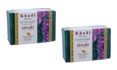 Khadi Mauri Herbal Lime-lavender Soap