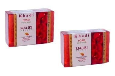 Khadi Mauri Herbal Rose Soap Pack Of 2