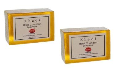Khadi Mauri Herbal Haldi Chandan Soap Pack Of 2