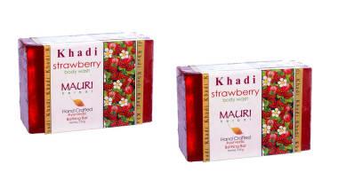 Khadi Mauri Herbal Strawberry Soap Pack Of 2