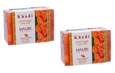 Khadi Mauri Herbal Orange Soap Pack Of 2