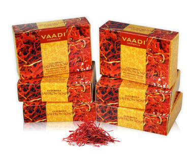 Vaadi Herbals Super Value Pack Of Luxurious Saffron Soap - Skin Whitening Therapy (75gm Each)