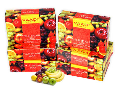 Vaadi Herbals Super Value Pack Of 6 Fruit Splash Soap (75gm Each)