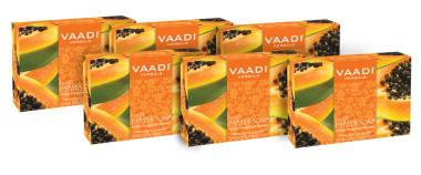 Vaadi Herbals Super Value Pack Of Fresh Papaya Soap Pack Of 6