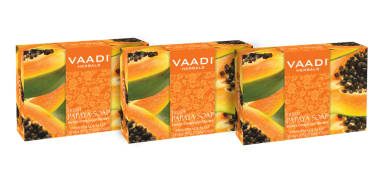 Vaadi Herbals Super Value Pack Of Fresh Papaya Soap Pack Of 3