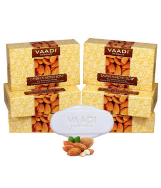 Vaadi Herbals Super Value Pack Of 6 Lavish Almond Soap (75gm Each)