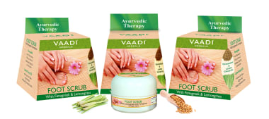 Vaadi Herbals Value Pack Of Foot Scrub With Fenugreek & Lemongrass Oil Pack Of 3